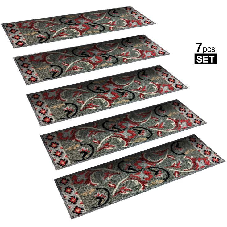 Best Non Slip Mats Rubber Backing Stair Treads Set Of 7 8 5 400 x 300