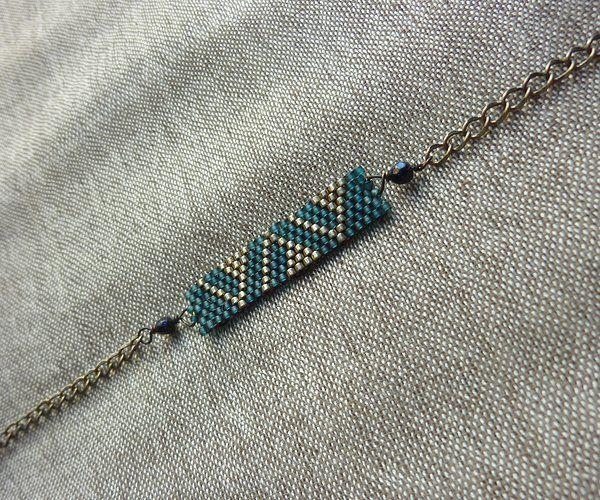 bracelet en tissage de perle ... a personaliser