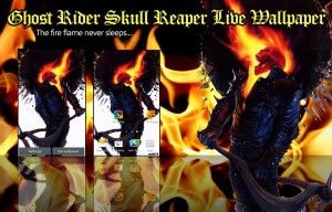 Ghost Rider Skull Reaper LWP - screenshot
