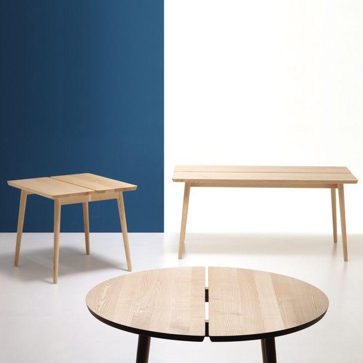 STUBE, la famiglia dei tavoli Stube si compone di tre tavoli in legno di frassino di diverse forme e dimensioni accomunati tutti dalla particolare fessura al centro del piano. Tutti i tavoli sono realizzati in legno massello e hanno un design che si ispira allo stile scandinavo del 900.  Designer Mikko Lakkonen