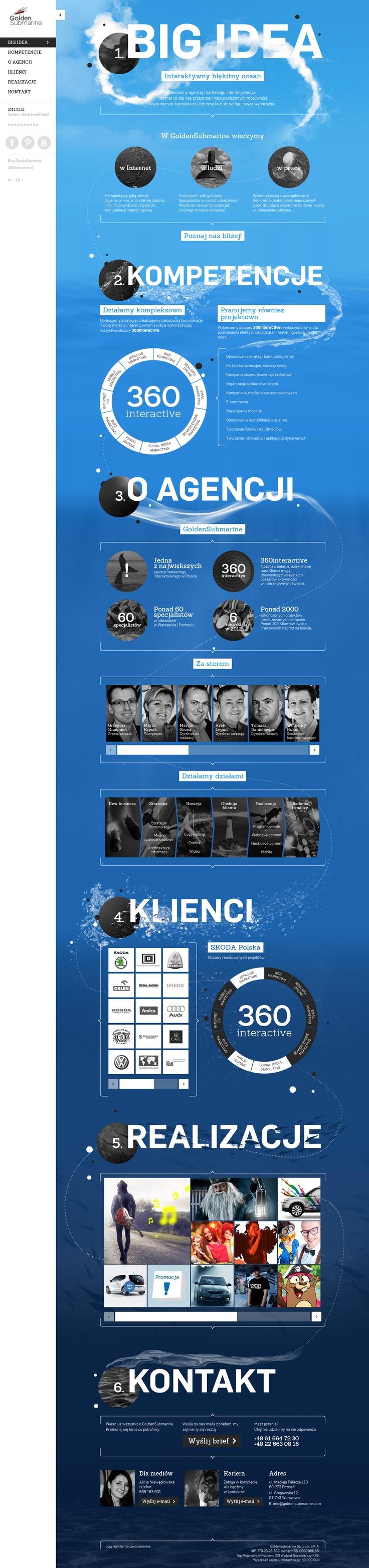Responsive web design GoldenSubmarine - www