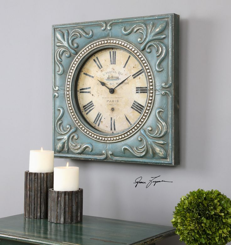 Bon Canal St. Martin Square Wall Clock   Premier Home Decor