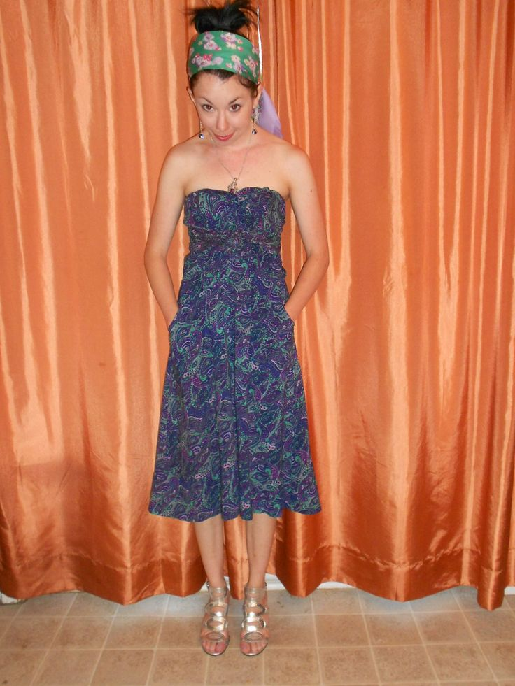 How to sew long sleeves on a strapless dress