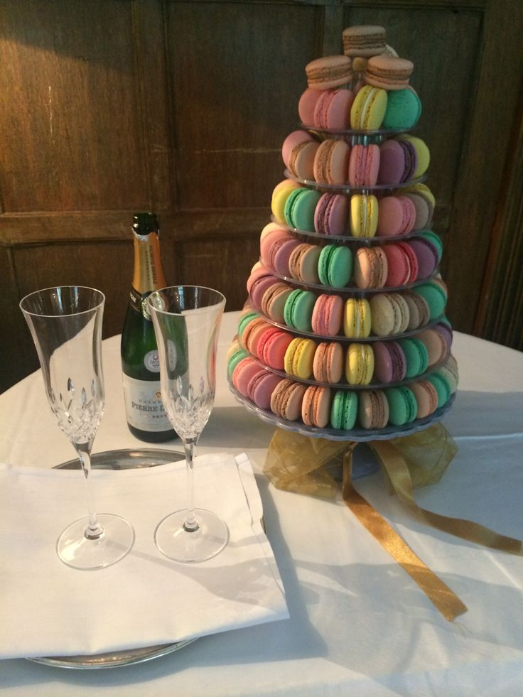 1960s colour pop macaroon wedding cake!