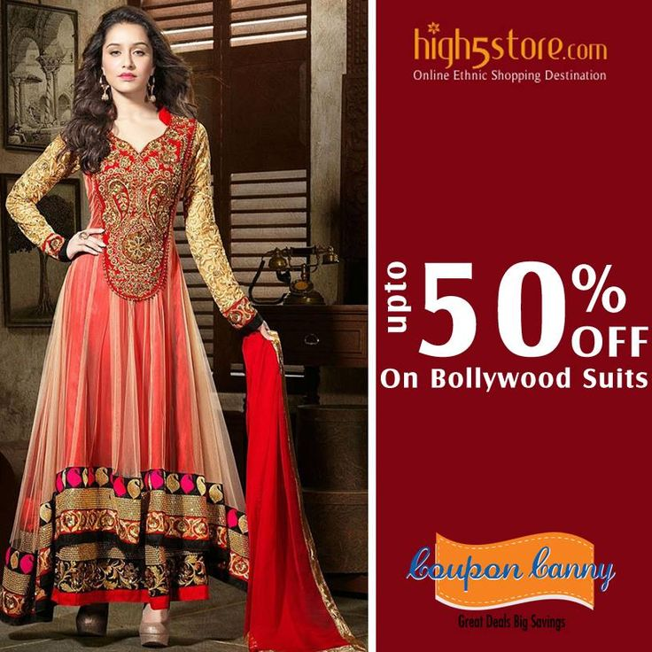 Upto 50% off on #Bollywood Suits at #High5Store! Claim Now : http://www.couponcanny.in/high5store-coupons/