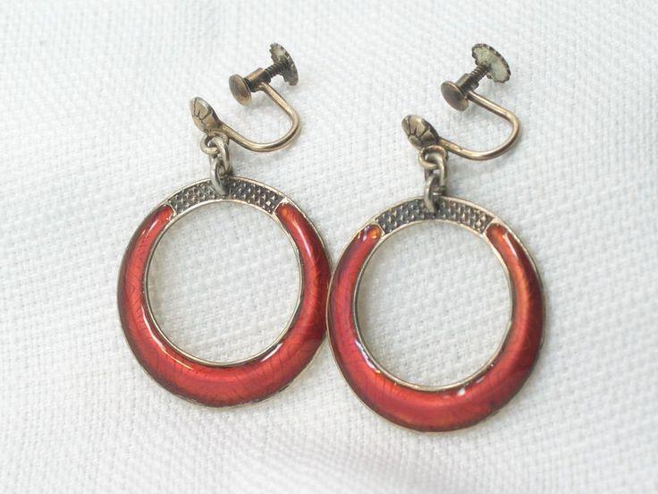 Estate Vintage Sterling Silver Andresen Scheinpflug Oslo Norway Dangle Earrings  #AndresenScheinpflug