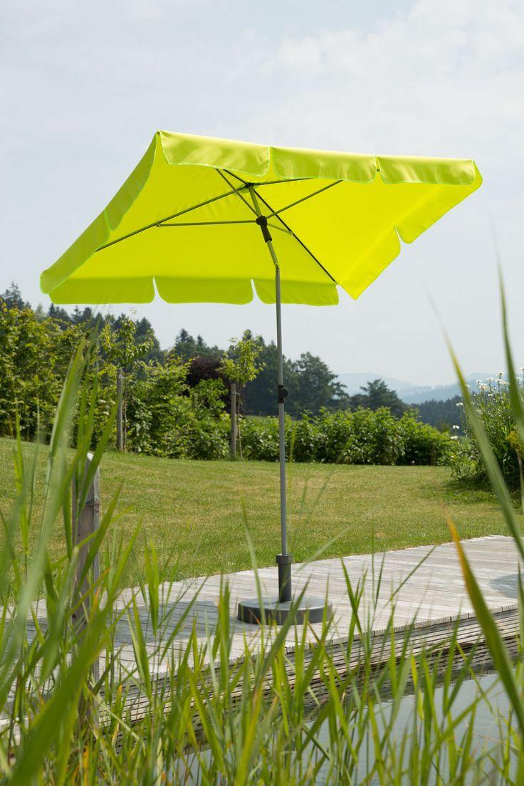 Sonnenschirm LOCARNO - apfelgrün - rechteckig - 180x120 cm -      UV Schutz 50+     Maße Schirm: ca. 180 x 120 cm     Gesamthöhe: ca. 240 cm