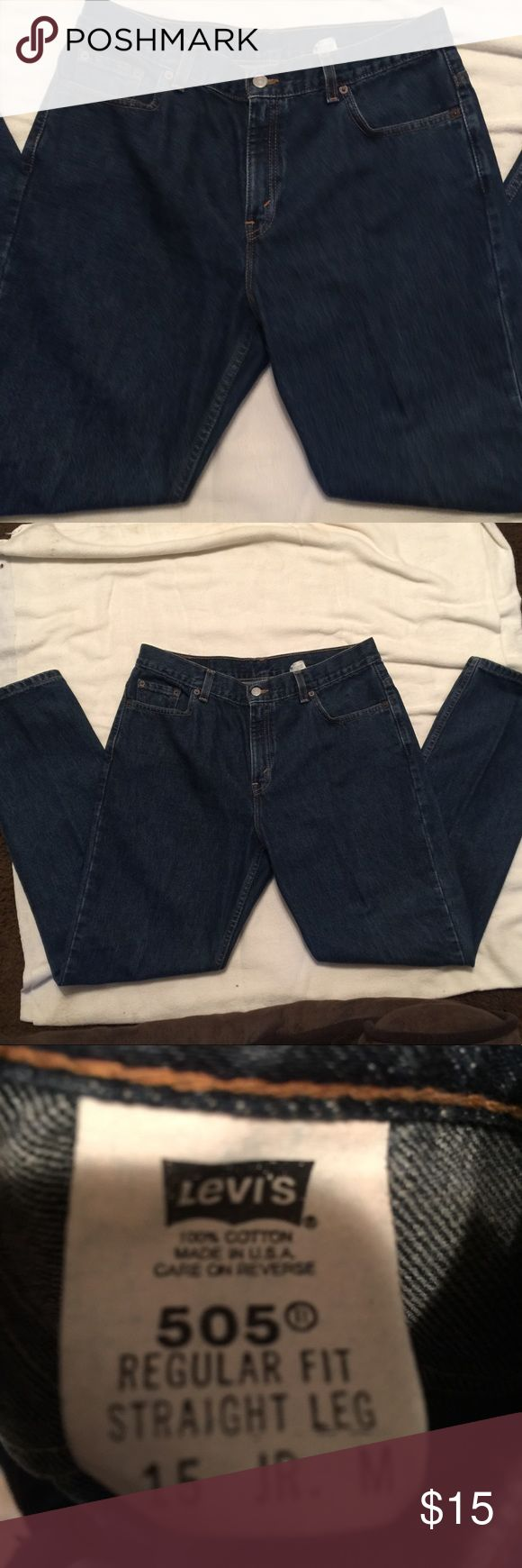 Levi 505 Jeans 👖 Levi 505 Jeans 👖  Excellent condition. Juniors Size 15  ❌🚫No Low Ball Offers Considered Levi's Jeans Straight Leg