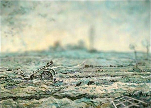 Vincent van Gogh (Dutch artist, 1853-1890) Snow Covered Field with a Harrow