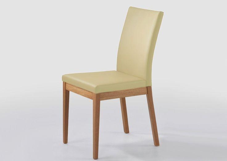 Stuhl Oviedo Holz Wildeiche Massiv Bezug Aus Echtleder Beige 21022. Buy Now  At Https: