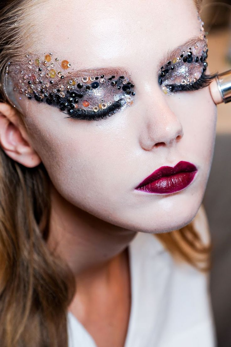 Make Up Application: Avant Garde Makeup By Pat McGrath.