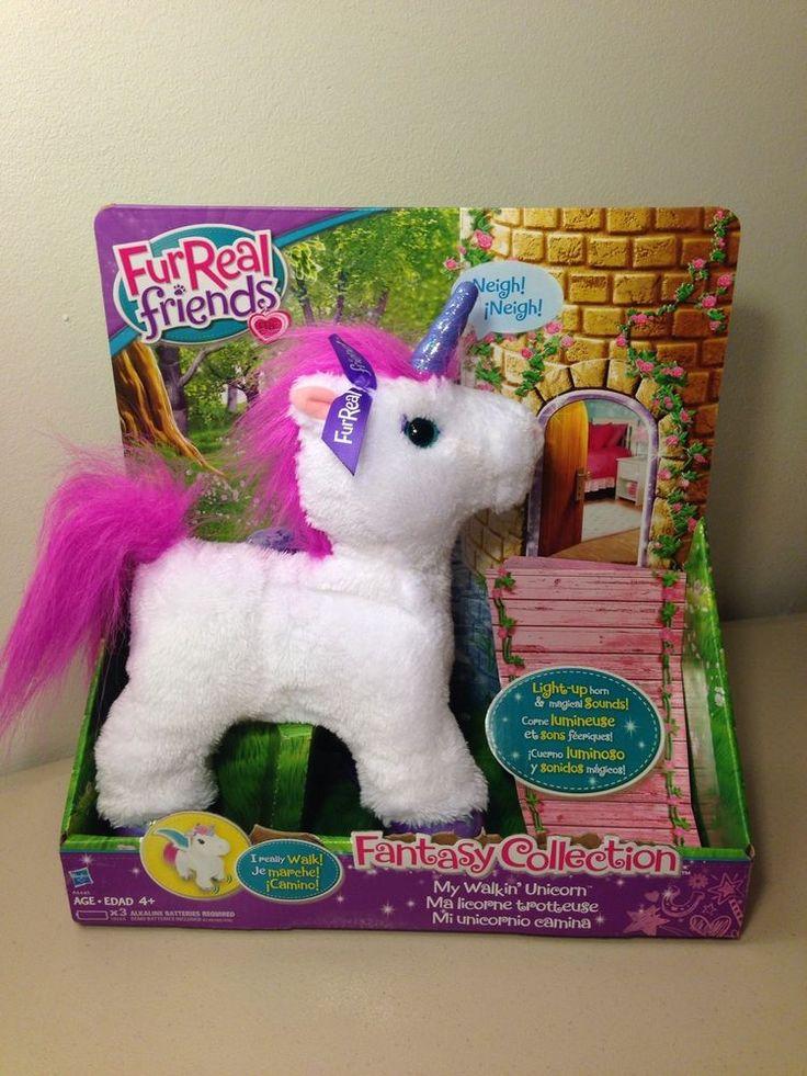 NEW FurReal Friends Fantasy Starbeam Walking Unicorn Fur