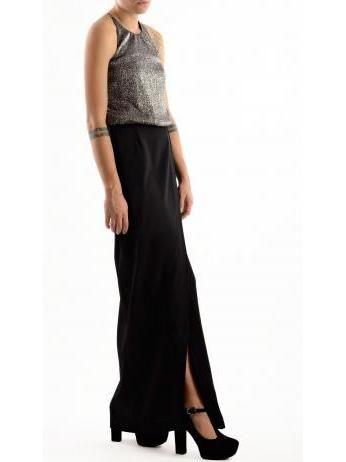 Kocca - Laminated halter top long dress