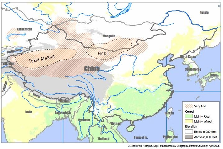 The geography of East Asia