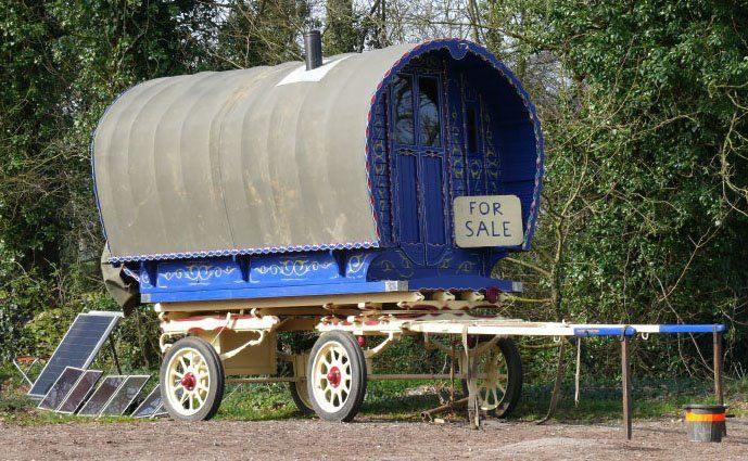 A GYPSY CARAVAN FOR SALE IN THE ENGLISH COTSWOLDS