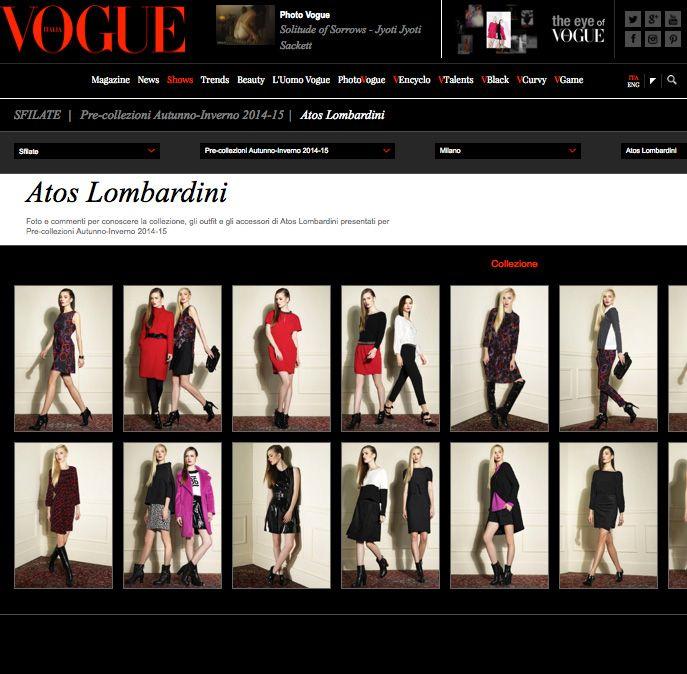 #ATOSLOMBARDINI Pre Collection #AI201415 _ #FW201415 : Exclusive preview _ Anteprima esclusiva su Vogue Magazine _ http://www.vogue.it/sfilate/sfilata/pre-collezioni-autunno-inverno-2014-15/atos-lombardini