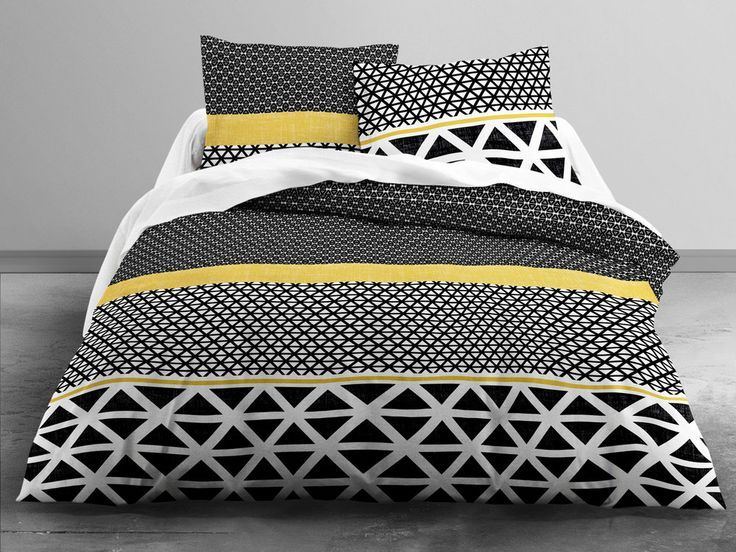 les 25 meilleures id es concernant couette jaune sur. Black Bedroom Furniture Sets. Home Design Ideas