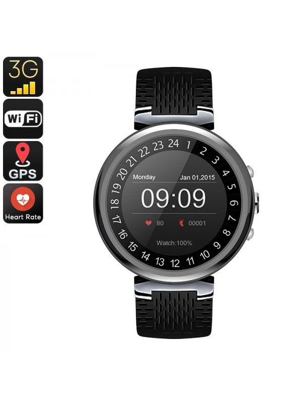 IQI I6 SMART WATCH PHONE (BLACK)
