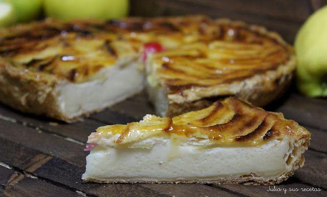 @juliaromeroamar : Tarta de manzana con leche condensada