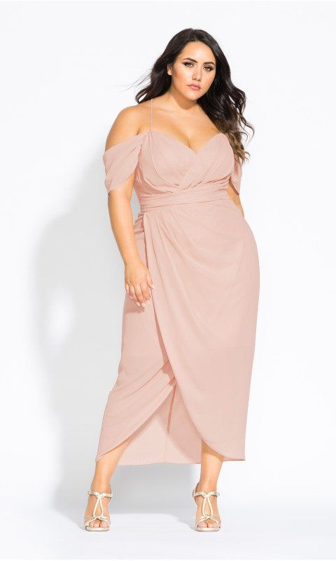 630bbffa56 Shop Women s Plus Size Entwine Maxi Dress - pink - Formal Dresses - Dresses