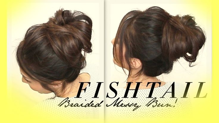 ★ VOLUMINOUS BRAIDED MESSY BUN TUTORIAL | CUTE HAIRSTYLES FOR MEDIUM LON...