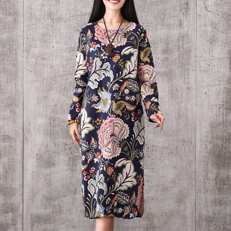 New Pregnant Woman Dress Elegant Ethnic Long Sleeve Maternity Clothes Vintage Floral Casual Dress Spring Maternity Clothing