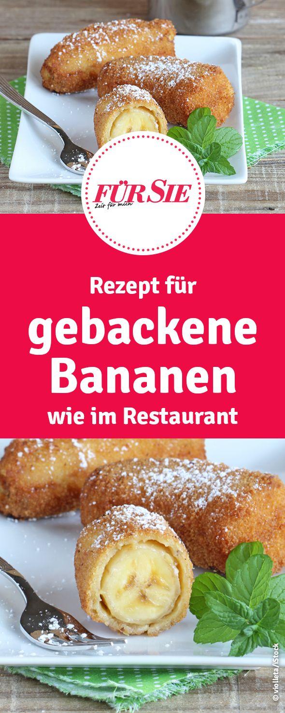 Rezept für gebackene Bananen wie im Restaurant