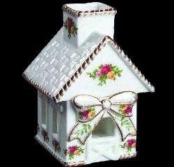 Royal Albert China - Old Country Rose Candle house