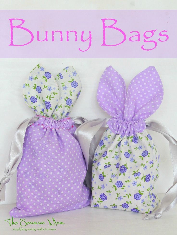 BUNNY TREAT BAG SEWING TUTORIAL - These little bags are so irresistibly cute and perfect for hiding Easter treats! Make a whole bunch with this super easy bunny bag tutorial!