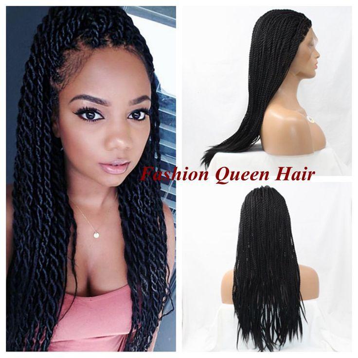 "Crochet Twist Braiding Hair 16""-26"" Long Crotchet Braids Synthetic Hair Custom Made Higher Density Braiding Hair Wig For Women"