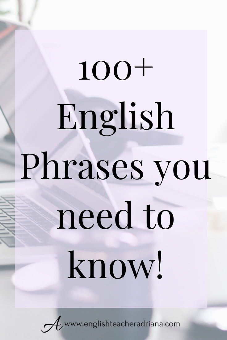 80 Common English Phrases Learn English Words English Phrases