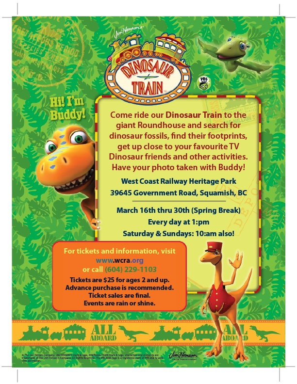 Dinosaur Train Coming to the park!