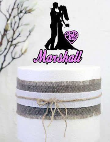 Cake signs, toppers and plaques personalised - Wedding  - Bride and Groom 2…