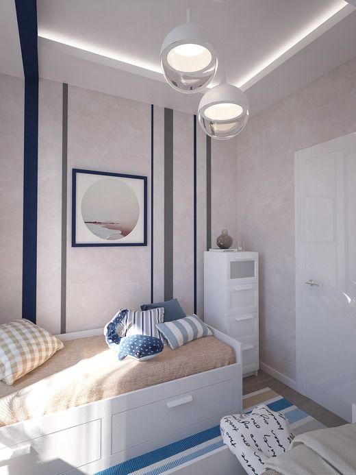 Детская комната для близнецов. Спальня