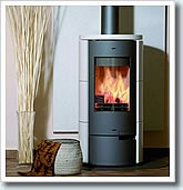 #contemporary_stoves  Contemporary Venus Ceramic Wood Burning Stove