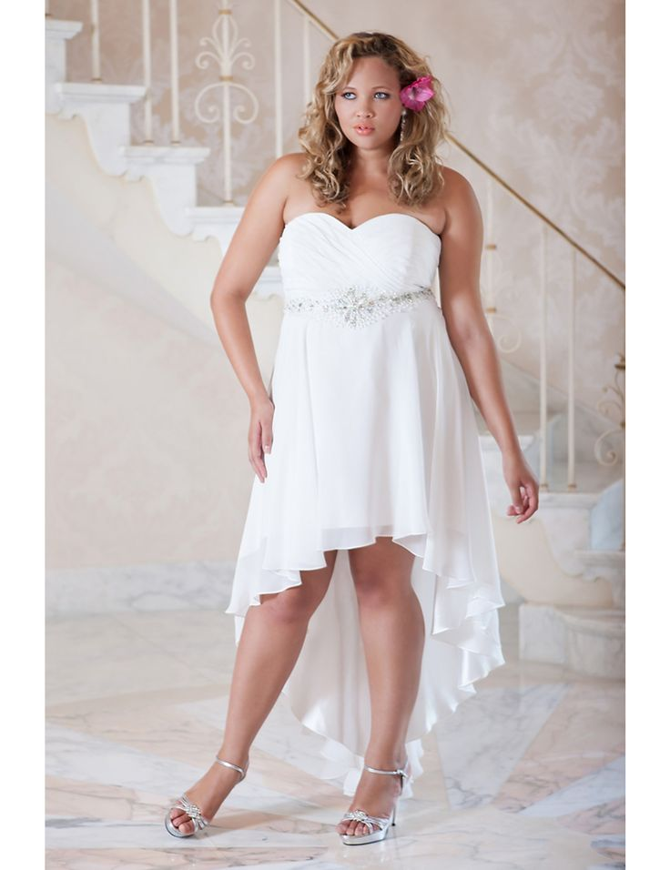 Perfect informal plus size wedding gown possibly for a for Destination plus size wedding dresses