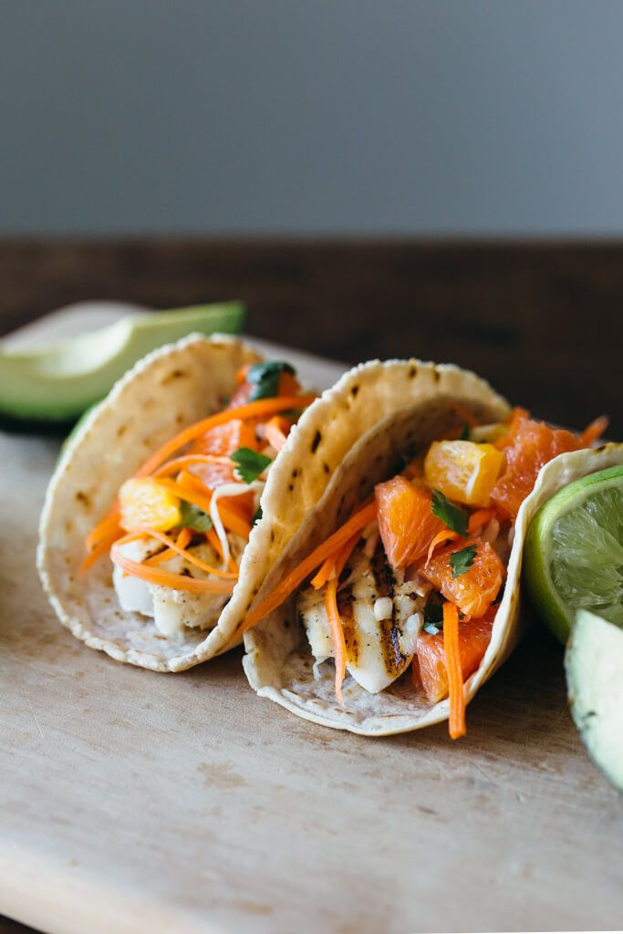 Grilled fish tacos with citrus carrot slaw recipe for Coleslaw for fish tacos