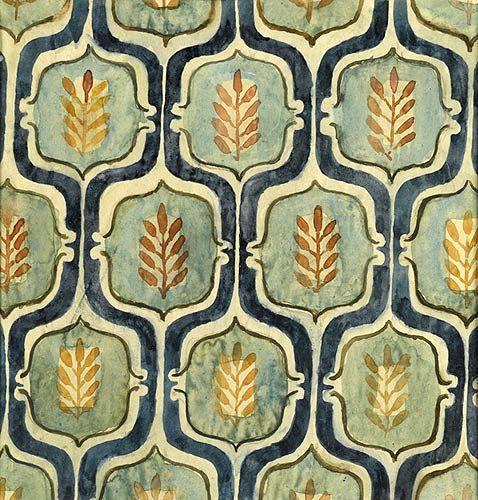 textile design - small pink & green, ca. 1938 - elizabeth vellacott