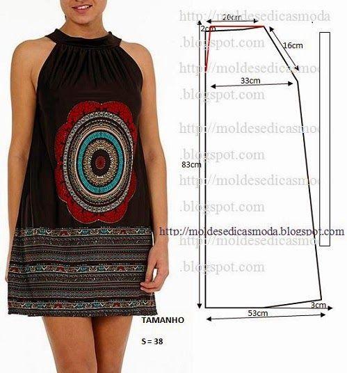 Moldes Moda por Medida: VESTIDO FÁCIL DE FAZER - 57