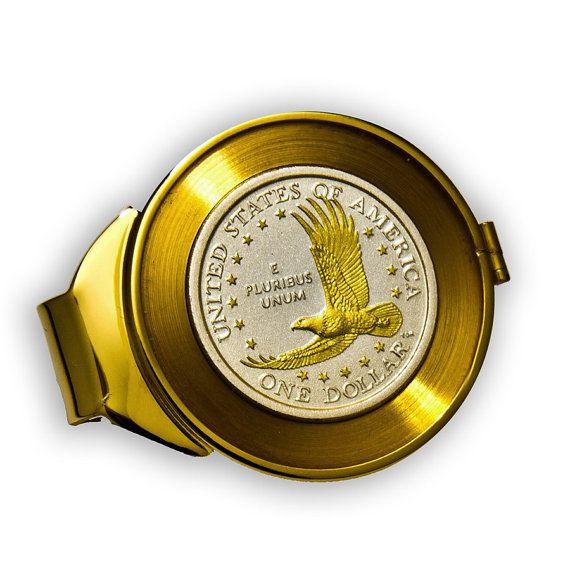 24KT Gilded Eagle Sacagawea Dollar Silver Coin Money by PGSCoins