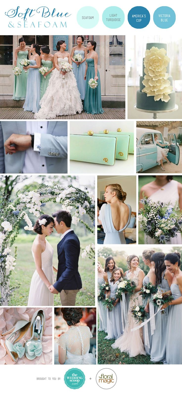 126 best blue weddings images on pinterest blue weddings blue soft blue and seafoam inspiration board pale pastel wedding moodboard ombrellifo Images