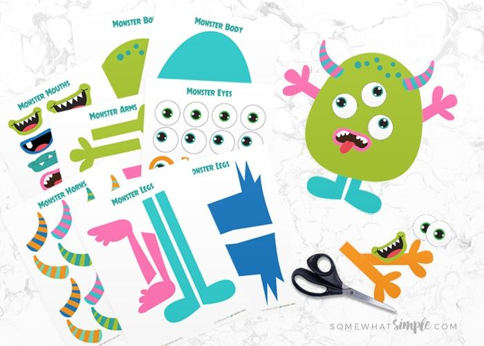 Looking for something to keep little hands busy? Try this adorable Build A Monster Printable Kit! All you need are office supplies and some imagination!