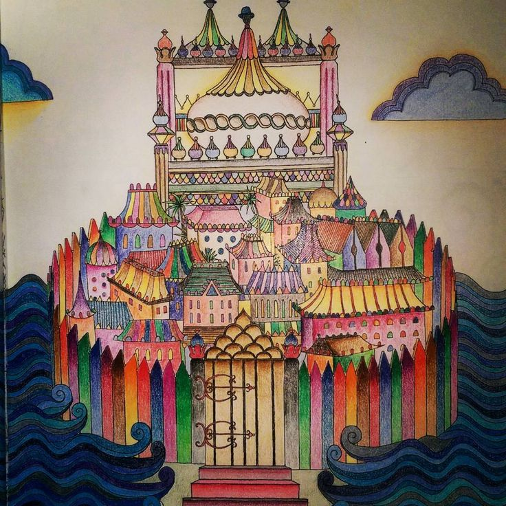 Regram Coloured In Image From Dream Cities A Colouring Book Of Mindfulness Available At Utility
