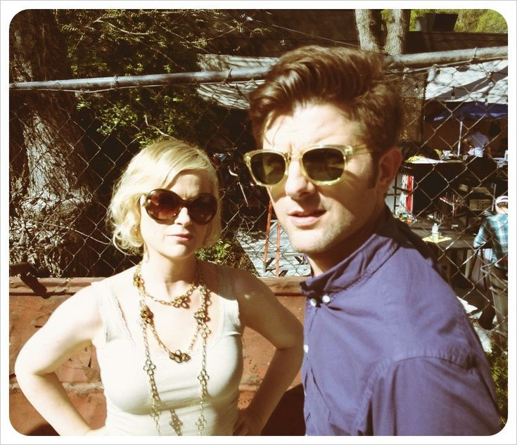 Amy Poehler and Adam Scott. My favorite TV couple because they remind me of Scott and I, right down to the geekiness!