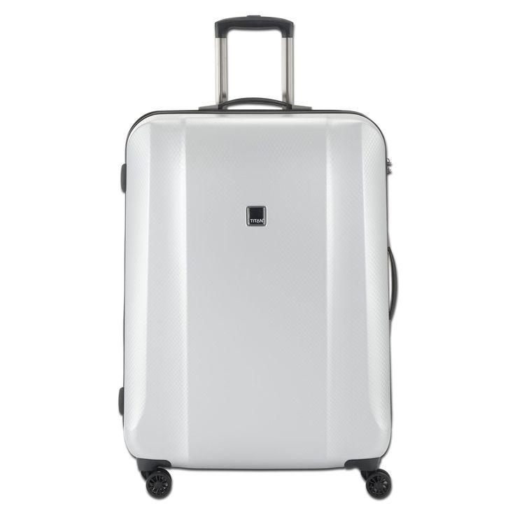 Großer #Koffer TITAN Xenon Deluxe bei Koffermarkt: ✓silber ✓4 Rollen ✓Polycarbonat ✓113 Liter ✓74x53x31 cm