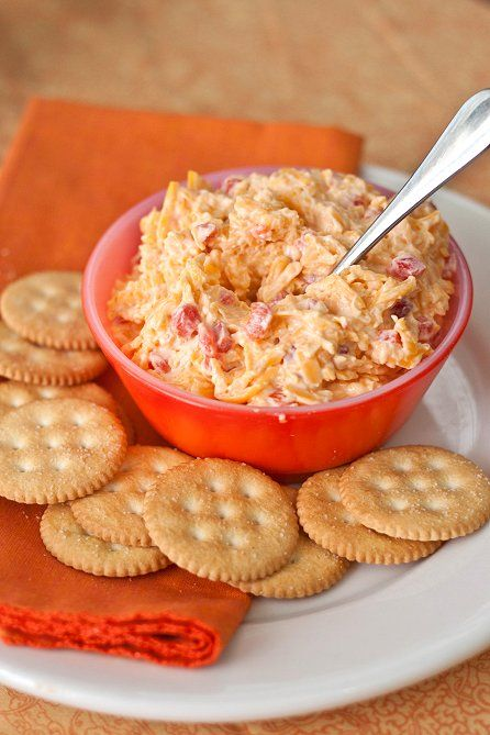 Skinny Pimento Cheese: 8 oz. extra sharp cheddar, shredded   4 oz. diced pimientos   2 Tbs Greek yogurt   2 Tbs mayonnaise   1/2 tsp Worcestershire sauce   squeeze of lemon juice   salt and pepper to taste