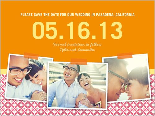 Pink and Orange Save the Date!
