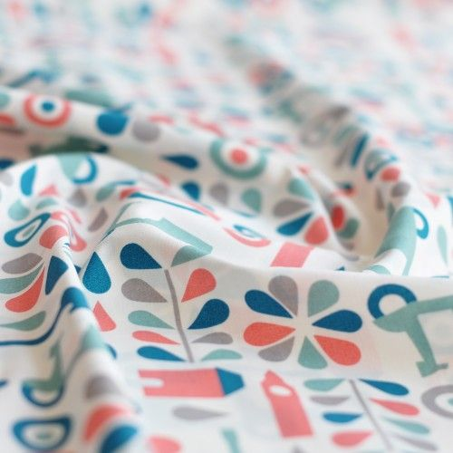 Tkanina bawełniana organiczna Mod Squadette Birch Fabrics