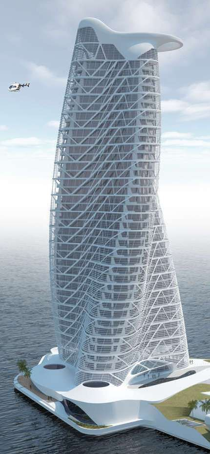 Strata Tower, Abu Dhabi, UAE by Asymptote Architects :: 40 floors, height 160m :: vision: