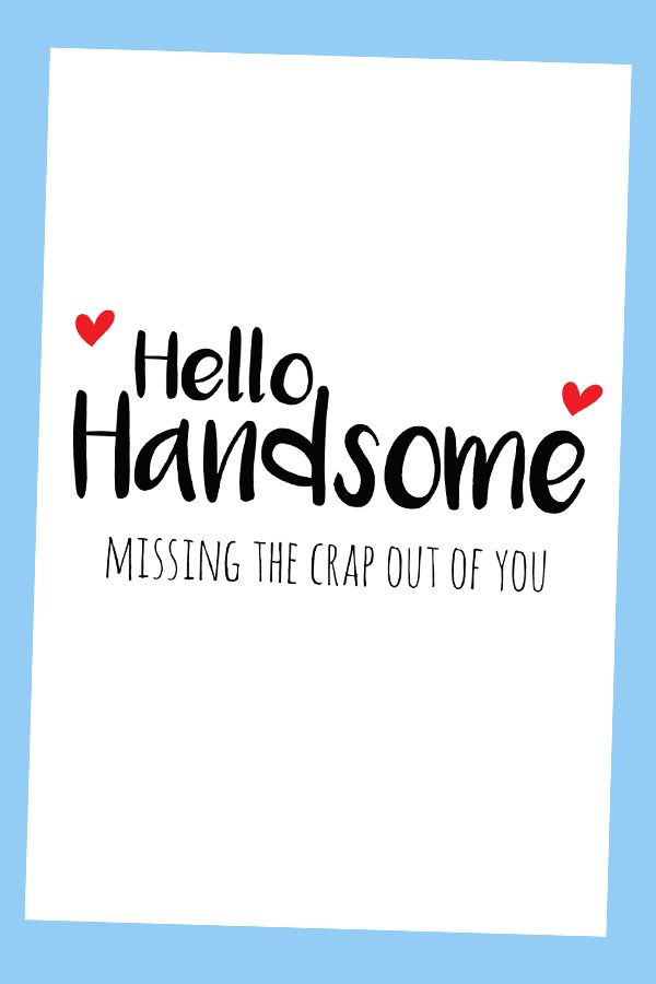 Miss You Cards For Boyfriend Deployment Card Long Distance Card